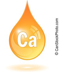 Calcium icon - Calcium drop icon