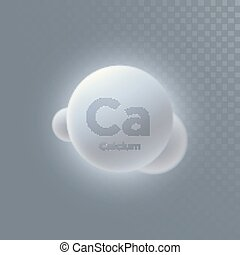 Calcium mineral icon isolated on transparent background....