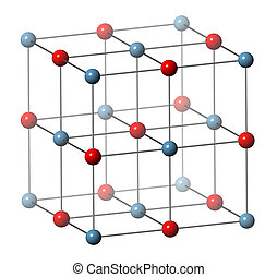 Calcium oxide (CaO, quicklime, burnt lime), crystal...