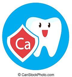 calcium, protection, sous, dent
