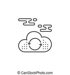 calcolare, nuvola, icona