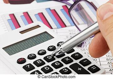 calcolatore, bilancio, grafica