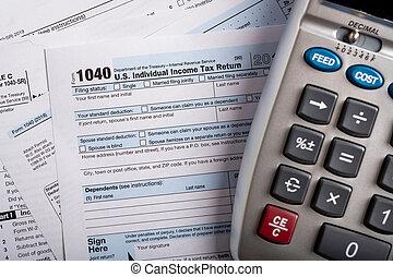 calcolatore, stati uniti, forme, tassa