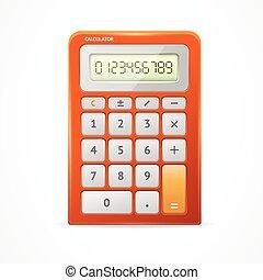 calcolatore, vettore, red.