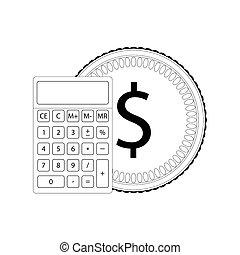 calcolo, linea, finanziario