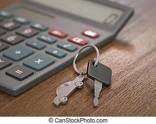 calcolo, prestito automobile