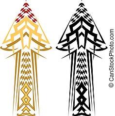 calcomanías, coche, tribal