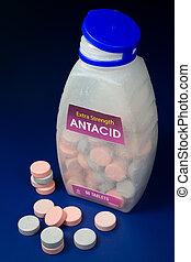 calcuim, antiácido, carbonato, tabletas