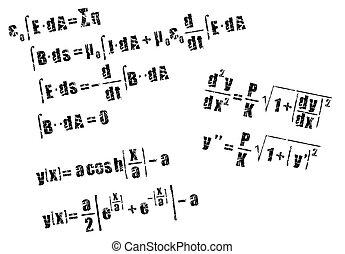 calcul, équation, mathématiques