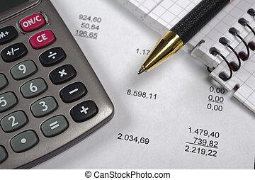 calcul, budget
