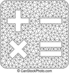 calcul, cadre, illustration, polygonal, vecteur, maille