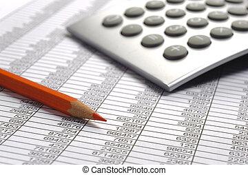 calcul, financier