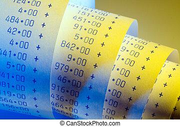 calculadora, aritmética, tira