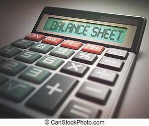 calculadora, balanço