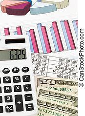 calculadora, balance, gráficos