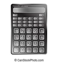 calculadora, branca, contra