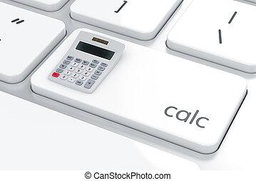 calculadora, computadora, keybord