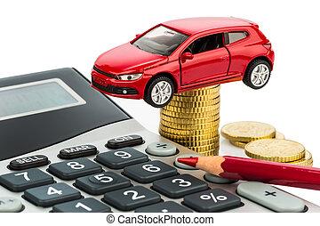 calculadora, coste, coche.
