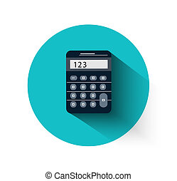 calculadora, en, plano, diseño