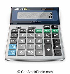 calculadora, fundo, isolado, branca