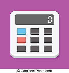 calculadora, icono, vector