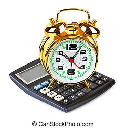calculadora, reloj