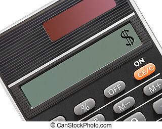 calculadora, sinal dólar