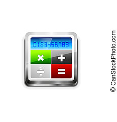 calculadora, vector, icono