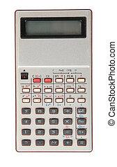 calculadora, viejo, sucio, obsoleto