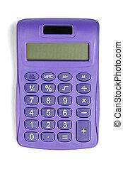 calculadora, violeta