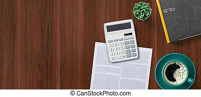 calculadora, vista, copia, izquierda, cima, espacio, lugar ...