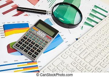 calculadora, y, lupa