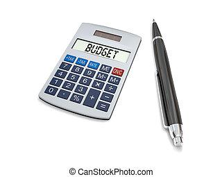 calculando, orçamento