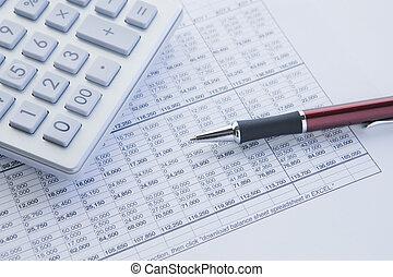 Calculate and balance - financial balance sheet with...