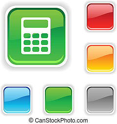 Calculate  button. - Calculate  square button. Used blends.