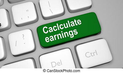 Calculate earnings online shot clip