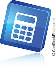 Calculate icon. - Calculate beautiful icon. Vector...