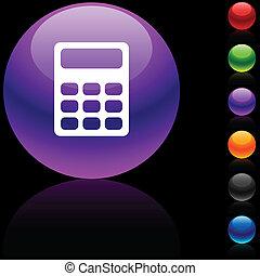 Calculate icon. - Calculate glossy icon. Vector...
