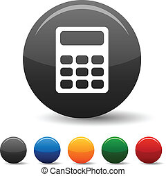 Calculate icons. - Calculate icon set. Vector illustration....