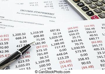 Calculate income statement