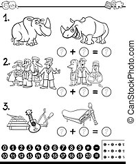 calculating  activity coloring page