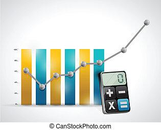 calculating business concept illustration design