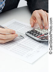 Calculating expenses, taxes and banking accounts