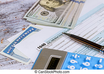 Calculating numbers for income tax return with calculator