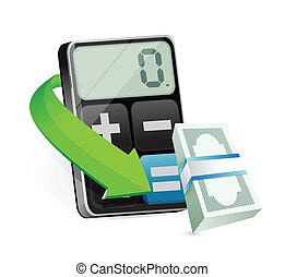 calculating profits illustration design