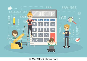 Calculating the income.