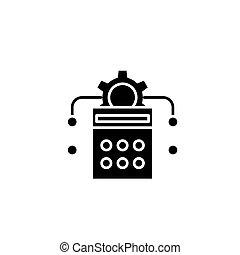 Calculation black icon concept. Calculation flat vector symbol, sign, illustration.