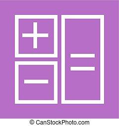 Calculation, calculate, mathematics, accounting icon vector...