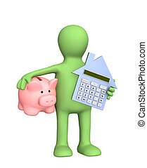 Calculation - Conceptual image - calculation of the domestic...