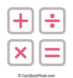 calculation  color line icon